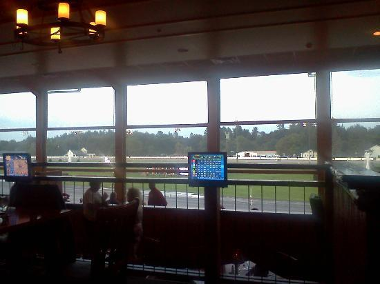 Saratoga Casino Hotel: The view from our table