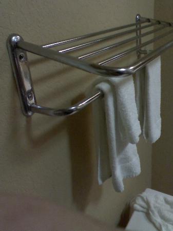Comfort Inn & Suites Fredericksburg: side view of tilting towel rack