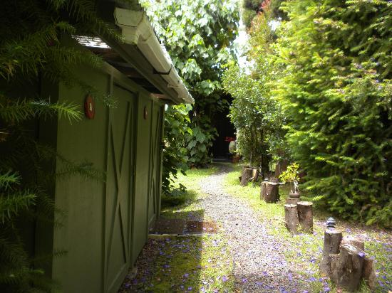 The Artist Cottage at Volcano Garden Arts: Private Path to the Cottage