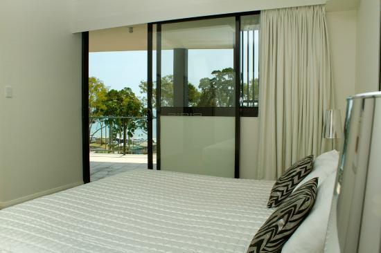 The Bay Apartments: Master Bedroom with a view