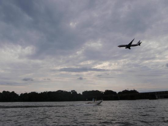 Capitol River Cruises: plane flying over a boat