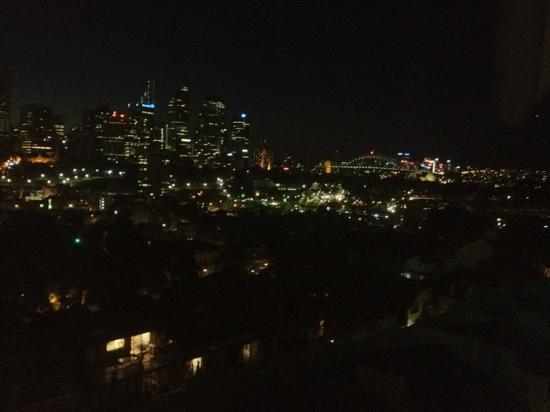 Holiday Inn Potts Point - Sydney: View from 5th Floor Room - night