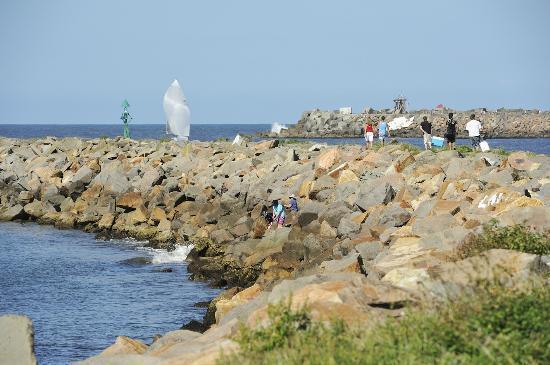 Stockton Beach Holiday Park: Beautiful scenery