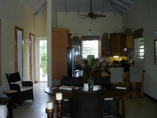 Meads Bay Beach Villas: Kitchen / Living Area
