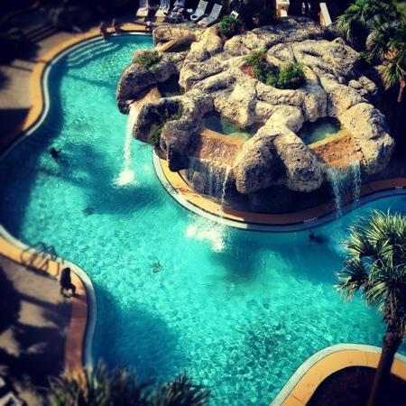 Jacksonville Beach, FL: pool view from 7th floor