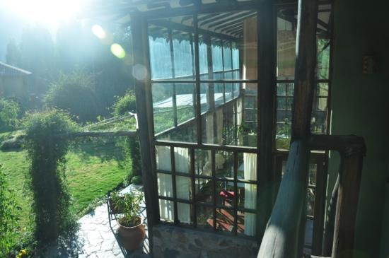 The Green House Peru: a view of the glass-enclosed living area