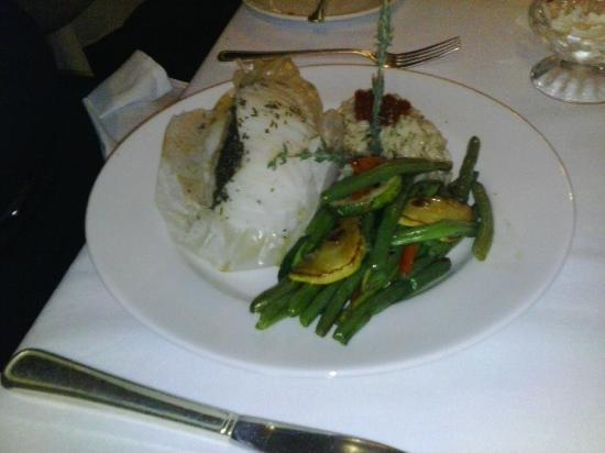 The Canterbury Kitchen & Bar : Steam Sea Bass with Three Cheese Risotto