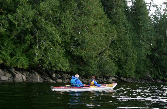 Southeast Sea Kayaks: Ellen and Michael in a peaceful place