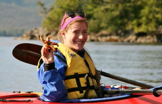 Southeast Sea Kayaks: Ellen and the starfish- a happy girl