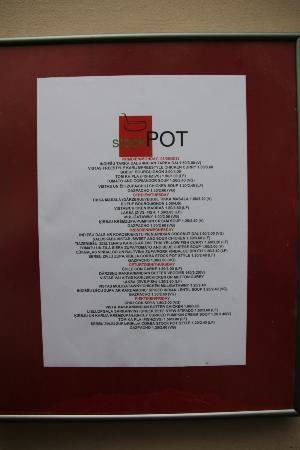 Stock Pot: menu