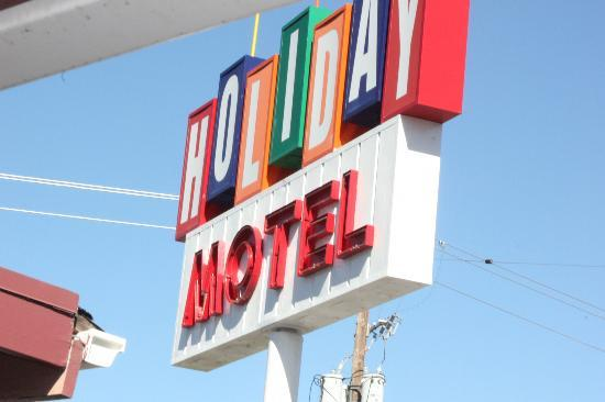‪‪Holiday Motel‬: Sign from room