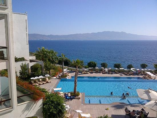 Xanadu Island Hotel: Kos Island view over the second pool