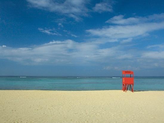 Hotel Nikko Alivila Yomitan Resort Okinawa: 珊瑚礁の海が広がるビーチ