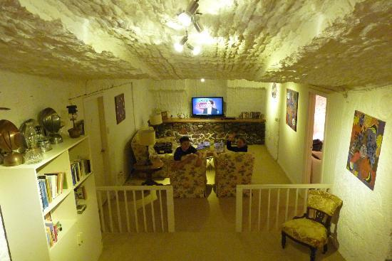 Underground Bed & Breakfast: Shared lounge area