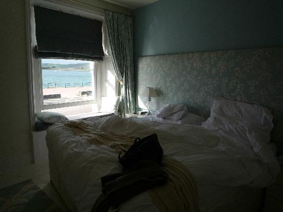 Sophia's B&B: our big bed and the view WOW