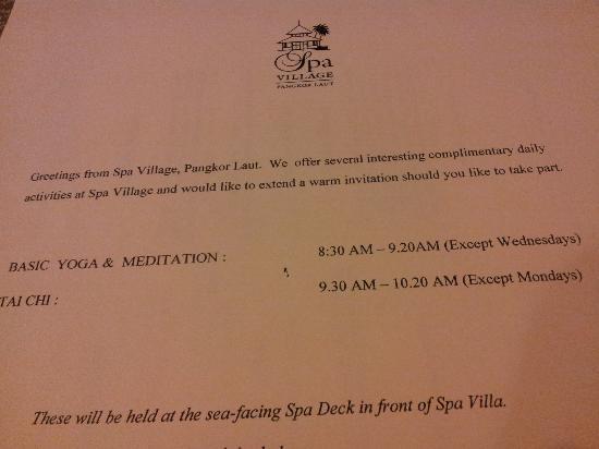 Tai chi yoga class schedule picture of pangkor laut resort pangkor laut resort tai chi yoga class schedule m4hsunfo