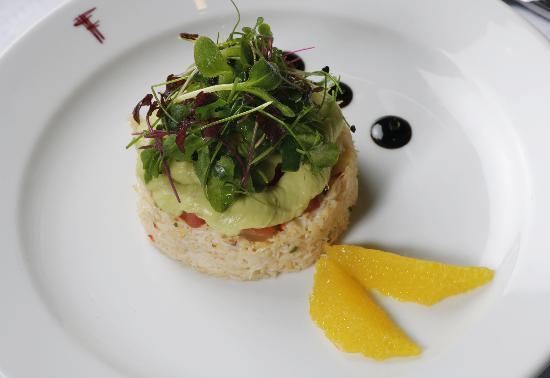 Franco's: Crab salad with tomato & avocado purée