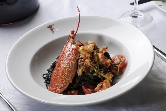 Franco's: Black tagliolini with lobster
