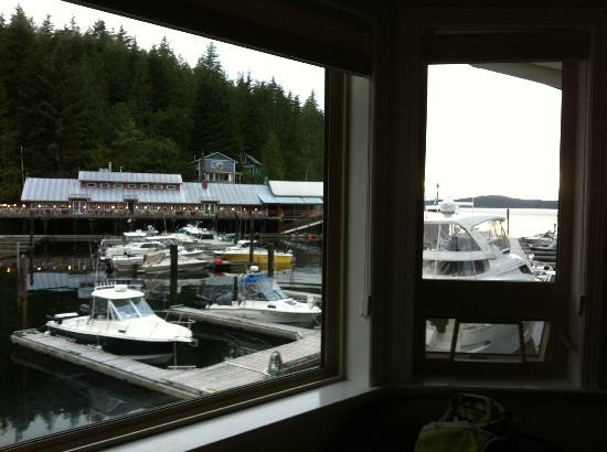 Telegraph Cove Marina & RV Park: Vista sul porticciolo