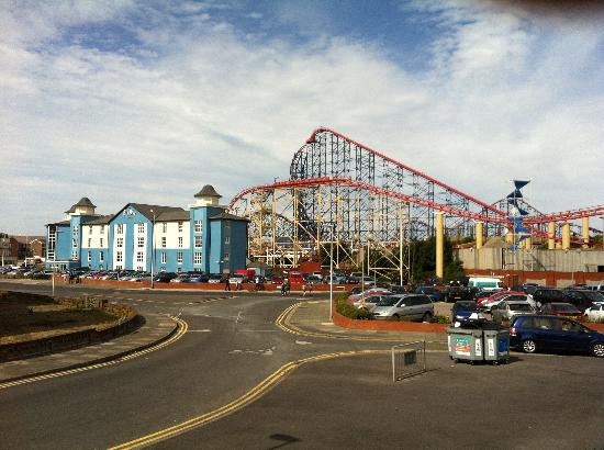 Big Blue Hotel: A View from Pleasure Beach Train Station