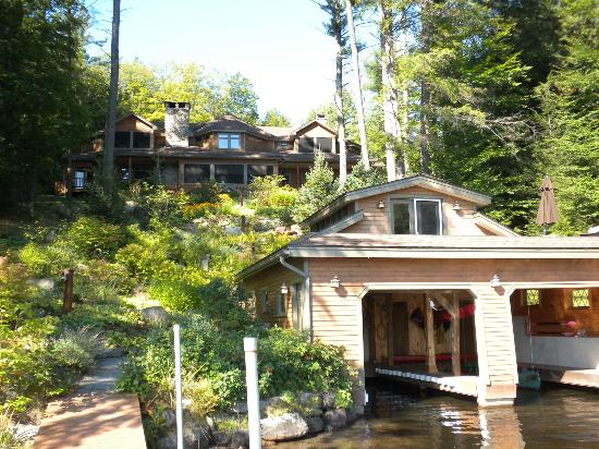 The Fern Lodge: View of the back of the lodge from Friends Lake