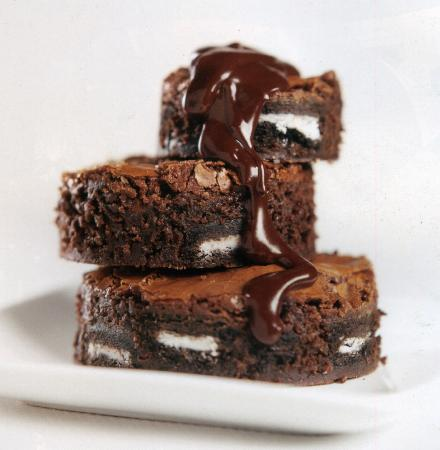 Piccadilly Square: Fudge brownie tower