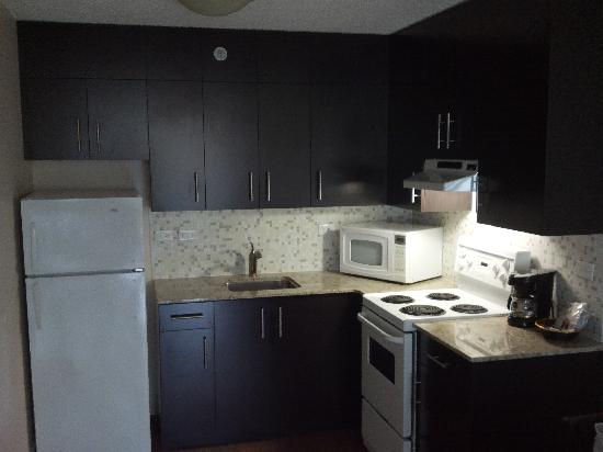 Gage Residence at UBC: Updated kitchen in a Gage Apartments room
