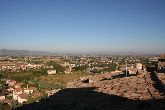 Palazzo Bocci: Blick aus dem Zimmer