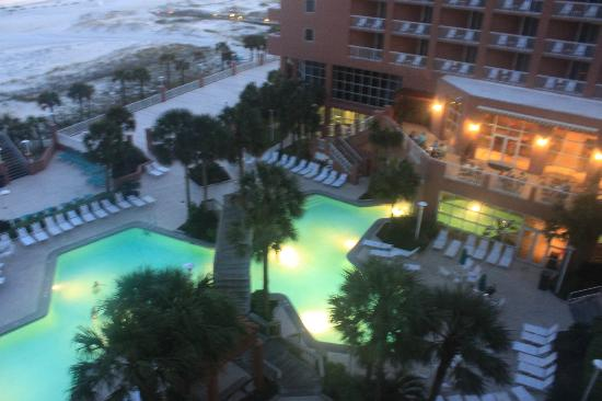 Perdido Beach Resort View Of The Pool Area From Our Balcony