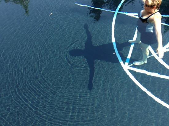 E'Terra: Working on my chakra energy in the pool