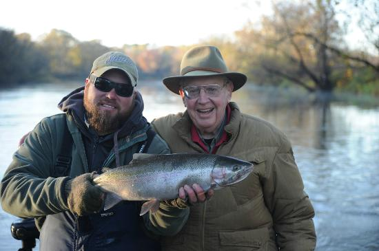 Great Lakes Guide Service : Capt. Kyle With Dr. Howard Tanner former the former DNR fisheries chief and DNR director who cre
