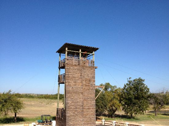 Rough Creek Lodge: Zipp Line and Rock Climbing Tower
