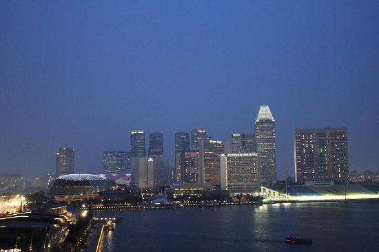 The Fullerton Bay Hotel Singapore: View from roof top of Fullerton Bay