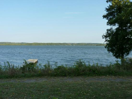 Elmhirst's Resort: view of lake from deck