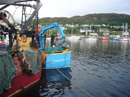 Struan House: Fishing boat outside the Struan