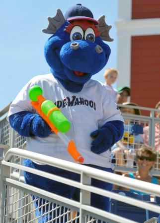 "Blue Wahoos Ballpark: Blue Wahoos mascot ""Kazoo"""