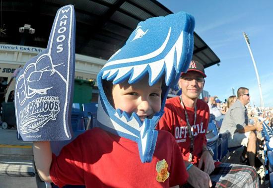 Blue Wahoos Ballpark: Bklue Wahoos fan
