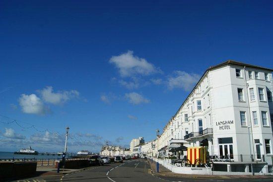 Langham Hotel: The Langham on Eastbourne sea front, September 2012