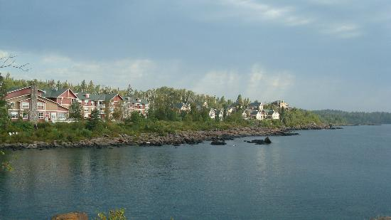 "Cove Point Lodge: View of the property from the ""point"""
