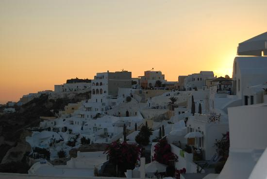 Katikies Hotel: The famous Santorini sunset from the room. Yes, seriously.