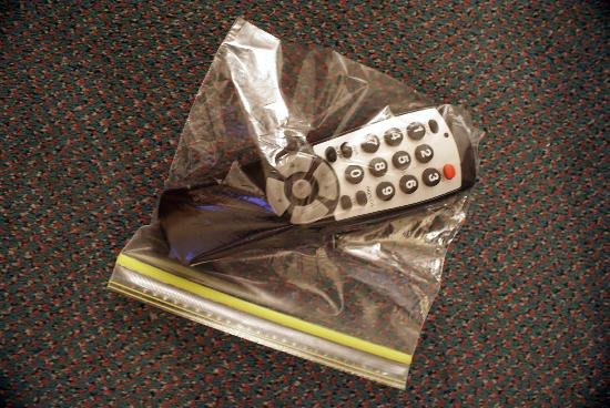 Travelodge Crescent City: remote so dirty I had to put it in a ziplock bag!! Couldn't stand the thought of touching it.