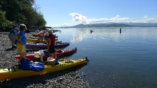 Columbia River Kayaking Day Tours: Lunch on the Columbia
