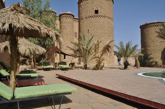 Kasbah Hotel Tombouctou : vue piscine