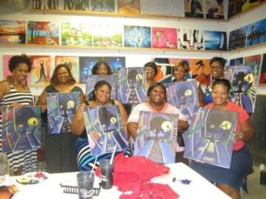 Painting with a Twist: Group Photo