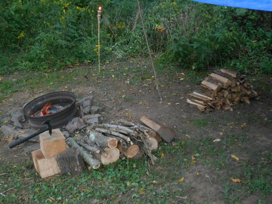 Little Orleans Campground: Fire ring and fire wood