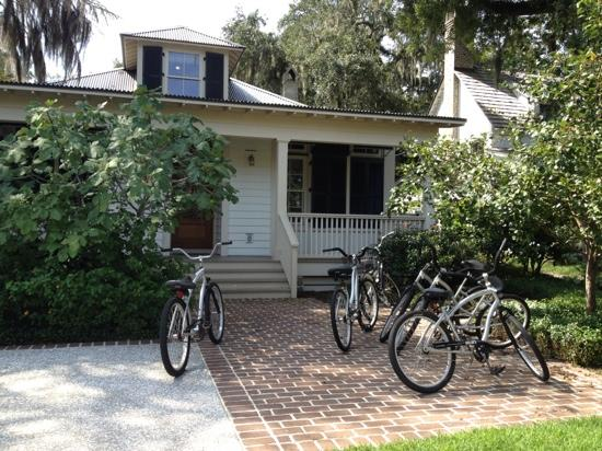 Montage Palmetto Bluff: bikes for everyone to ride around the property