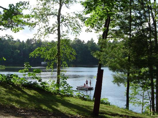 Brekke's Fireside Resort: View of lake outside of cabin 12
