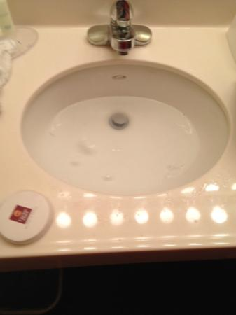 Holiday Inn Raleigh Downtown: clogged sink that started with rusk coming out