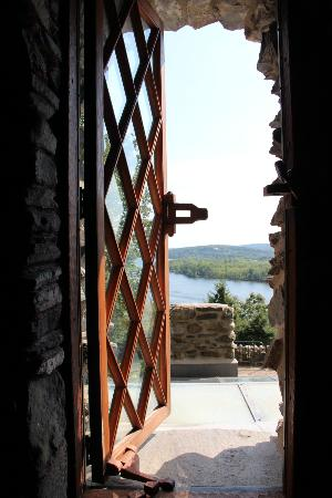 East Haddam, CT : View of the river from the hallway window of the castle.