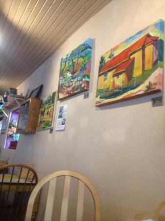 the art at Taos Cow